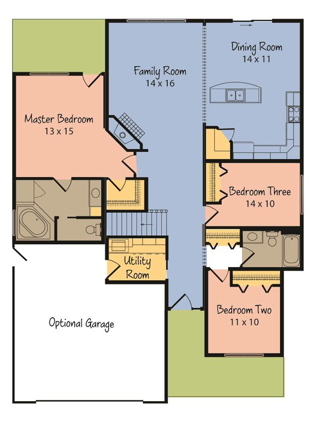 The beacon hill from terrace custom home builders in wisconsin for Custom home builder floor plans